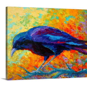 Crow III by Marion Rose Painting on Canvas