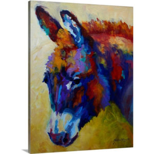 Burro II by Marion Rose Art Print on Canvas