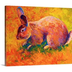 Cottontail II by Marion Rose Painting on Canvas