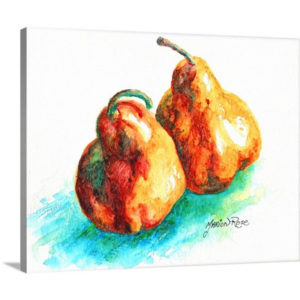 Plump Pear by Marion Rose Art Print on Canvas