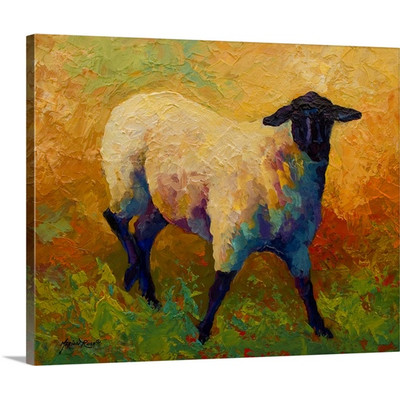 Ewe Portrait IV by Marion Rose Art Print on Canvas