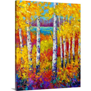 Autumn Patchwork by Marion Rose Art Print on Canvas