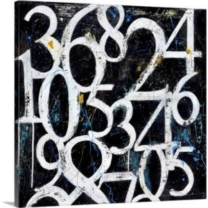 Numbers by Erin Ashley Art Print on Canvas