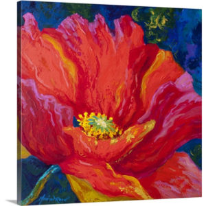 Passion Poppy II by Marion Rose Art Print on Canvas