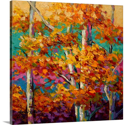 Abstract Autumn III by Marion Rose Art Print on Canvas