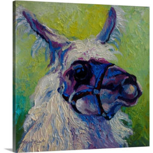 Lillocet Llama by Marion Rose Art Print on Canvas