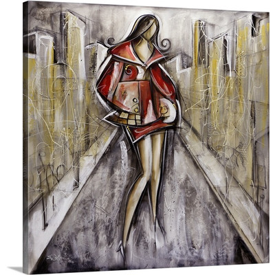 Fashion in the City by Eric Waugh Painting Print on Canvas
