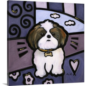 Shih Tzu Pop Art by Eric Waugh Painting Print on Canvas