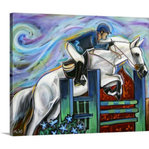 Show Jumper by Eric Waugh Art Print on Canvas