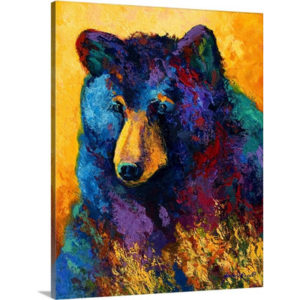 Bear Pause by Marion Rose Art Print on Canvas