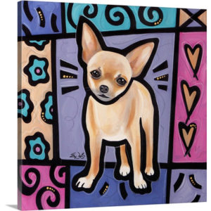 Chihuahua Pop Art by Eric Waugh Painting Print on Canvas