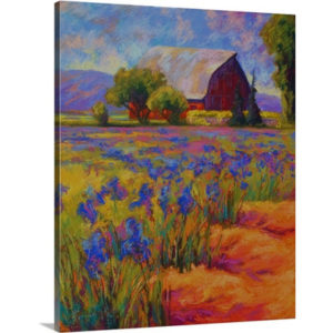 Iris Field by Marion Rose Art Print on Canvas