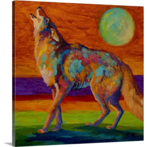 Coyote by Marion Rose Painting on Canvas