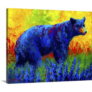 Loafing in the Lupin by Marion Rose Art Print on Canvas