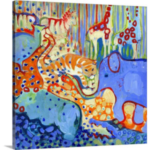 And Elephant Enters the Room by Jennifer Lommers Art Print on Canvas