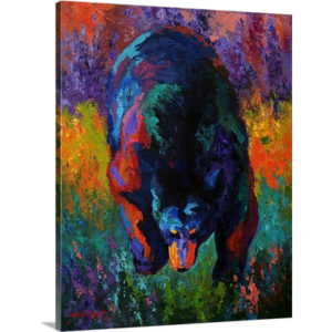 Grounded Black Bear by Marion Rose Art Print on Canvas