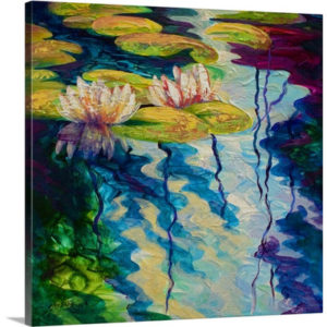 Lily Pond I by Marion Rose Art Print on Canvas