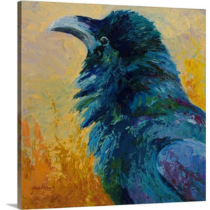 Raven Study by Marion Rose Art Print on Canvas