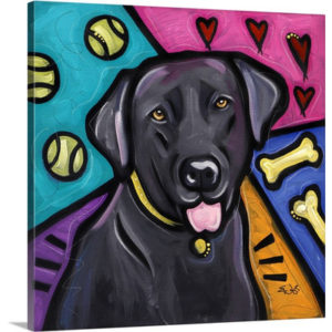 Labrador Retriever Pop Art by Eric Waugh Painting Print on Canvas