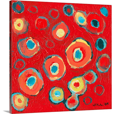 Abstract Study No 2 by Jennifer Lommers Art Print on Canvas