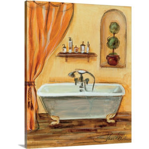 Tuscan Bath I by Silvia Vassileva Art Print on Canvas