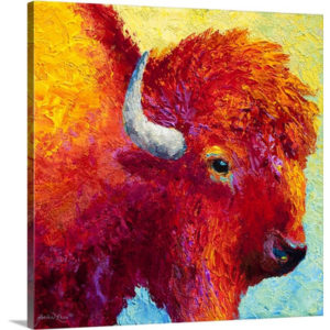 Bison Head IV by Marion Rose Art Print on Canvas