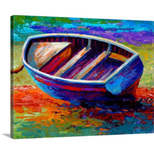 Riviera Boat III by Marion Rose Art Print on Canvas