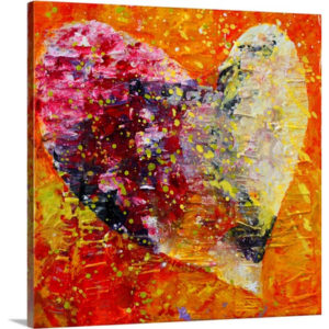 Paper Heart by Marion Rose Art Print on Canvas