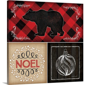 Plaid Christmas II by Jennifer Pugh Graphic Art on Wrapped Canvas