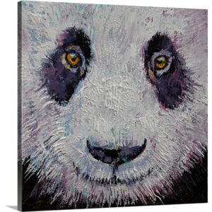 Panda Face by Michael Creese Art Print on Canvas