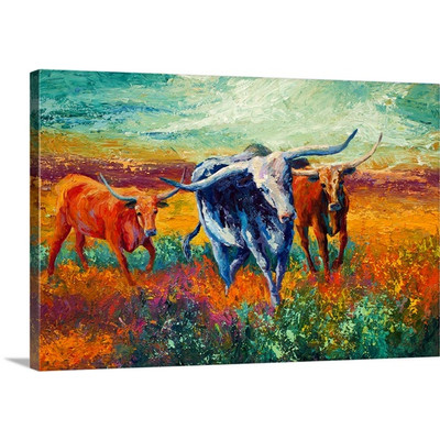 When the Cows Come Home by Marion Rose Art Print on Canvas