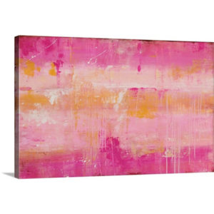 Pink Champagne by Erin Ashley Art Print on Canvas