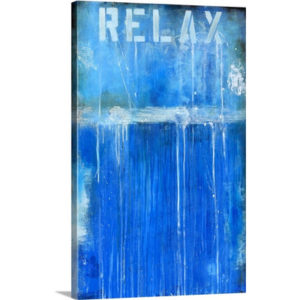 Relaxed by Erin Ashley Art Print on Canvas