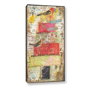August Grove Christmas Blessings I Painting Print on Wrapped Canvas