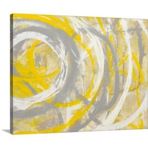 Yellow Aura Erin Ashley Art Print on Canvas | Mercury Row