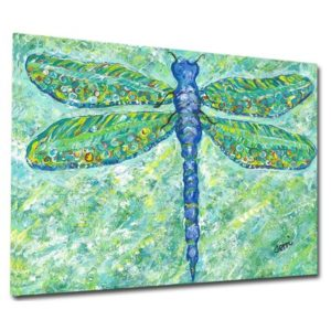 Dragonfly Acrylic Art Print on Gallery Wrapped Canvas | August Grove