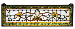 Fairytale Transom Amber | Stained Glass Panel