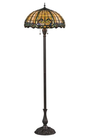"Dragonfly | Tiffany Art Glass Floor Lamp | 63"" H"