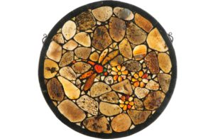 "Dragonfly Agate | Tiffany Art Glass Panel | 20"" X 20"""
