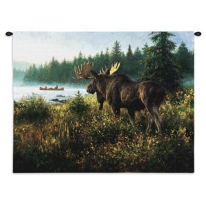 """In His Domain (Moose) by Robert Duncan   34"""" x 26""""   Wall Tapestry"""