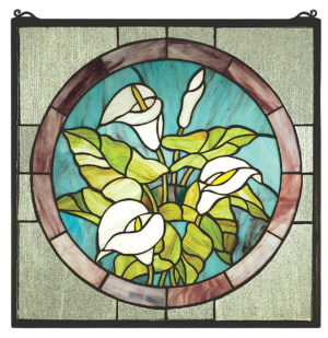 "Calla Lily | Stained Glass Panel | 20"" X 20"""