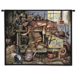 Charles Wysocki Cat Remington The Horticulturist | 34 x 26 | Tapestry