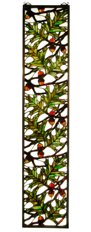 "Tall Oak | Stained Glass Window | 9"" W X 42"" H"