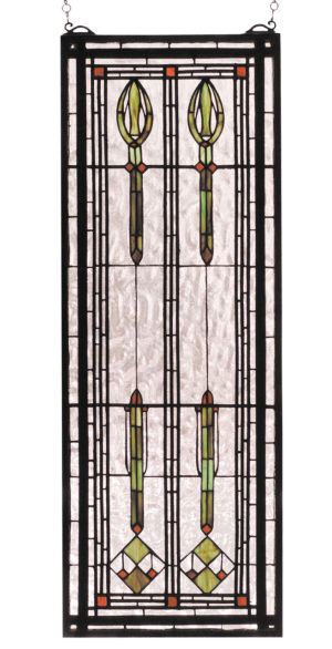 "Spear Of Hastings | Stained Glass Panel | 11"" W X 30"" H"