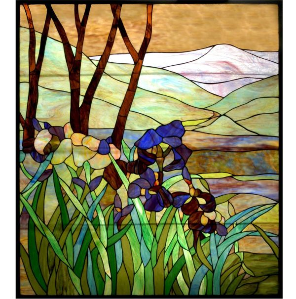 "Iris | Tiffany Glass Panel | 36"" X 42"""