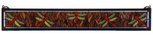 "Flight Of The Dragonfly | Stained Glass Window | 6.5"" H X 40.5"" W"