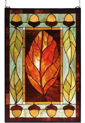 "Harvest Festival | Stained Glass Panel | 21"" X 31"""