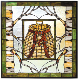 "Adirondack Basket | Stained Glass Window | 24.5"" X 24.5"""