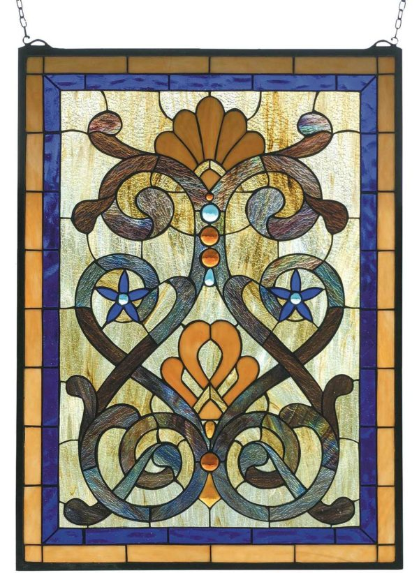 "Mandolin | Tiffany Stained Glass Window | 20"" X 27"""