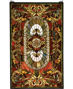 "Regal Splendor | Tiffany Art Glass Window | 20"" X 32"""